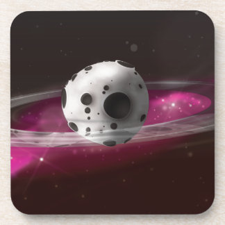 Planet in space beverage coaster