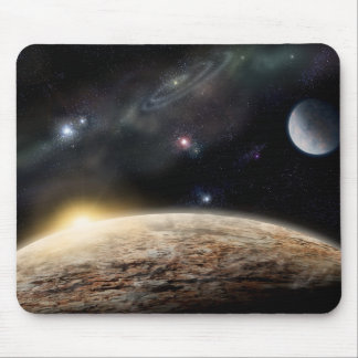 Planet in space mousepads