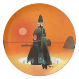 Planet Inferno Launch Melamine Plate