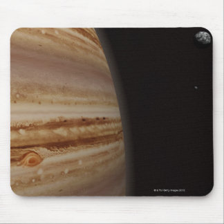 Planet Jupiter and a Distant Moon Mousepads