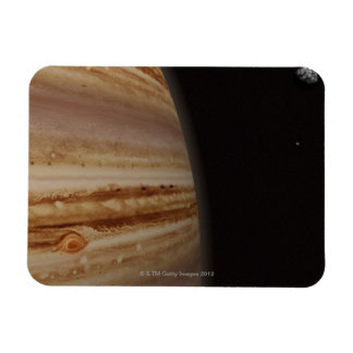 Planet Jupiter and a Distant Moon Rectangular Magnets