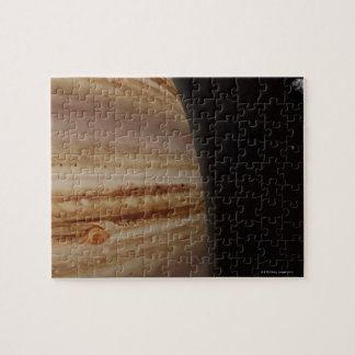 Planet Jupiter and a Distant Moon Puzzle