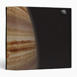 Planet Jupiter and a Distant Moon Vinyl Binders