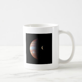 PLANET JUPITER AND ITS VOLCANIC MOON IO (space) ~ Coffee Mug