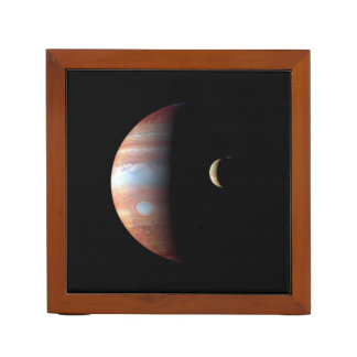 PLANET JUPITER AND ITS VOLCANIC MOON IO (space) ~ Desk Organizers