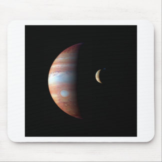 PLANET JUPITER AND ITS VOLCANIC MOON IO (space) ~ Mouse Pad