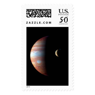 PLANET JUPITER AND ITS VOLCANIC MOON IO (space) ~ Postage