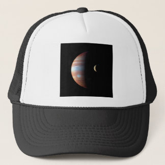 PLANET JUPITER AND ITS VOLCANIC MOON IO (space) ~ Trucker Hat