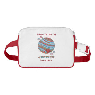 Planet Jupiter And Moons Colorful Space Geek Nylon Fanny Pack