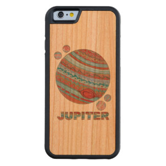 Planet Jupiter And Moons Colorful Space Geek Carved® Cherry iPhone 6 Bumper