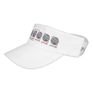 Planet Jupiter And Moons Colorful Space Geek Headsweats Visor
