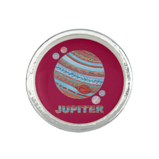 Planet Jupiter And Moons Geek Custom Jewelry Photo Ring