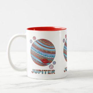 Planet Jupiter And Moons Geek Fun Coffee Mug