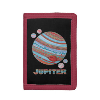 Planet Jupiter And Moons Geektastic Billfold Trifold Wallets