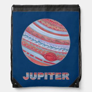 Planet Jupiter Art Colorful Space Geek Cinch Pack Cinch Bag