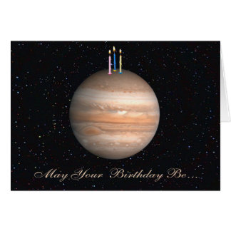 Planet Jupiter Birthday Card