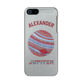 Planet Jupiter Colorful Space Geek Solar System Metallic iPhone SE/5/5s Case