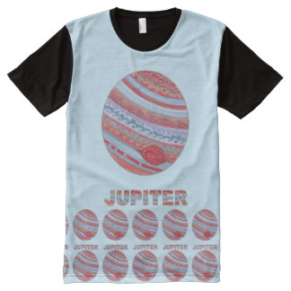 Planet Jupiter Colorful Space Geek Space Theme All-Over Print Shirt