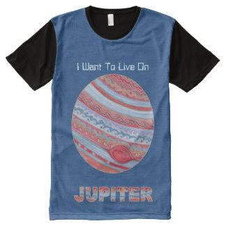 Planet Jupiter Colorful Space Geek Space Theme All-Over Print T-shirt