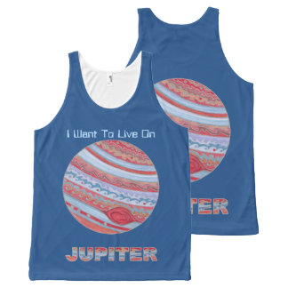 Planet Jupiter Colorful Space Geek Space Theme All-Over Print Tank Top