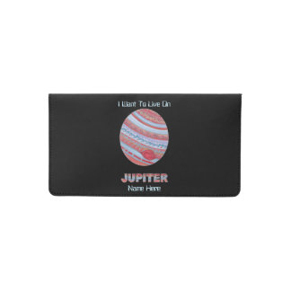 Planet Jupiter Colorful Space Geek Space Theme Checkbook Cover