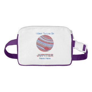 Planet Jupiter Colorful Space Geek Space Theme Nylon Fanny Pack