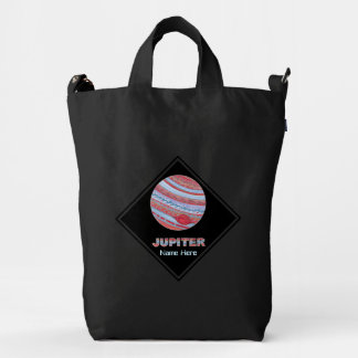 Planet Jupiter Colorful Space Geek Space Theme Duck Canvas Bag