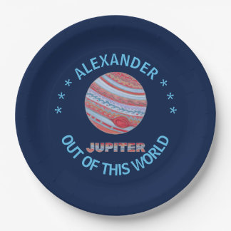 Planet Jupiter Colorful Space Geek Space Theme Paper Plate