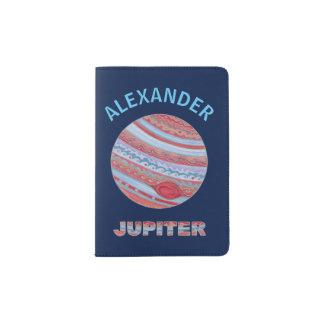 Planet Jupiter Colorful Space Geek Space Theme Passport Holder