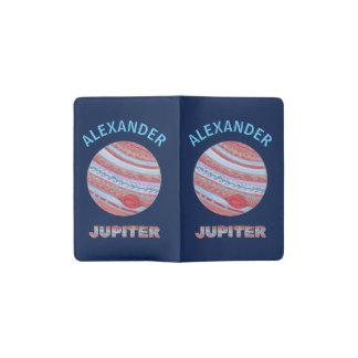 Planet Jupiter Colorful Space Geek Space Theme Pocket Moleskine Notebook