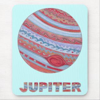 Planet Jupiter Geek Chic Computer Mouse Pad