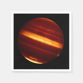Planet Jupiter in Infrared Light Paper Napkin