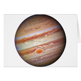 PLANET JUPITER  natural (red spot head on solar sy Card