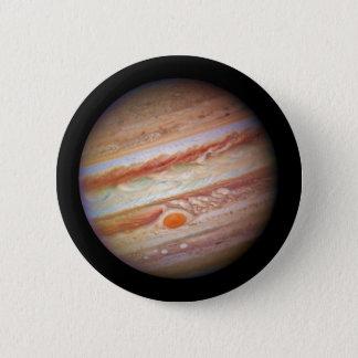 PLANET JUPITER ` red spot head on (solar system) ~ Button