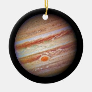 PLANET JUPITER ` red spot head on (solar system) ~ Ceramic Ornament