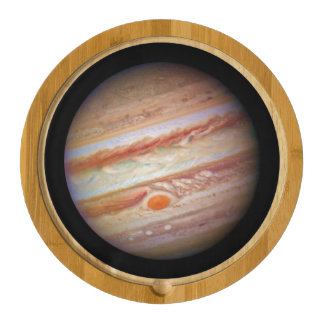 PLANET JUPITER ` red spot head on (solar system) ~ Cheese Platter