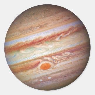 PLANET JUPITER - red spot head on (solar system) ~ Classic Round Sticker