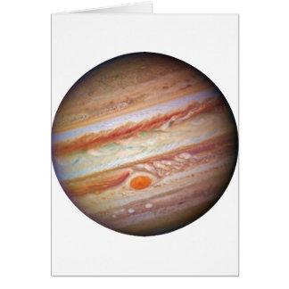 PLANET JUPITER - red spot head on (solar system) ~ Greeting Card