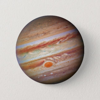 PLANET JUPITER - red spot head on (solar system) ~ Pinback Button