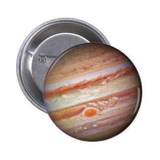 PLANET JUPITER - red spot head on (solar system) ~ Pinback Button
