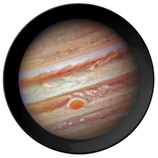 PLANET JUPITER ` red spot head on (solar system) ~ Porcelain Plate