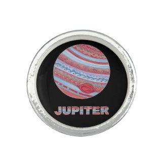 Planet Jupiter SciFi Space Geek Custom Jewelry Ring