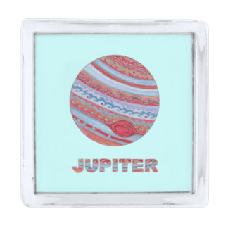 Planet Jupiter Solar System Colorful Space Geek Silver Finish Lapel Pin
