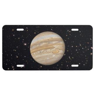 Planet Jupiter Starry Sky License Plate
