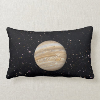 Planet Jupiter Starry Sky Lumbar Throw Pillow