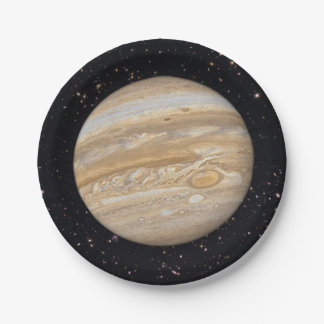 Planet Jupiter Starry Sky Paper Plates 7 Inch Paper Plate