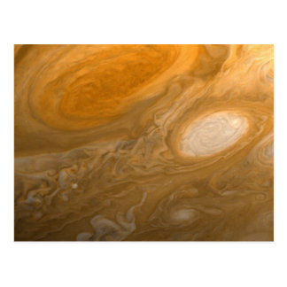 Planet Jupiter Swirling Storms and Big Red Spot Postcards