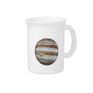 PLANET JUPITER v.2 (solar system) ~~.png Drink Pitcher