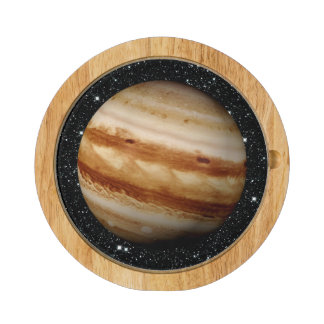 PLANET JUPITER v.4 star background (solar system) Cheese Platter