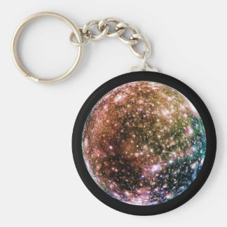 PLANET JUPITER'S MOON - CALLISTO (solar system) ~ Basic Round Button Keychain